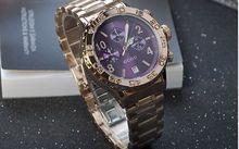 Бренд Наручные Часы Кварцевые Часы Высокого Класса женские Часы Браслет Из Нержавеющей Стали С Календарь Большой Циферблат Luxury Тиран