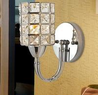 Modern Silver K9 Crystal E14 LED Light Wall Lamp For Living Room Dinning Room Bedroom Bedside
