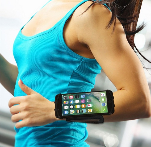 SzBlaZe Professional Rotatable Running Bag Wrist Band Arm cell phones Holder Sport pocket accessories For Gym Fitness Jogging 3