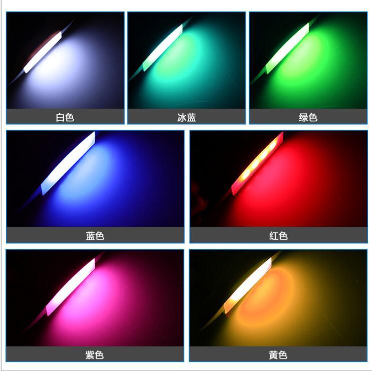 Egal 4PCS/Set Car Fender Wheel Eyebrow Protector LED Lights Lamp Car Tire Lamp Car-Styling Strobe ice Blue Light Car Electronics Accessories