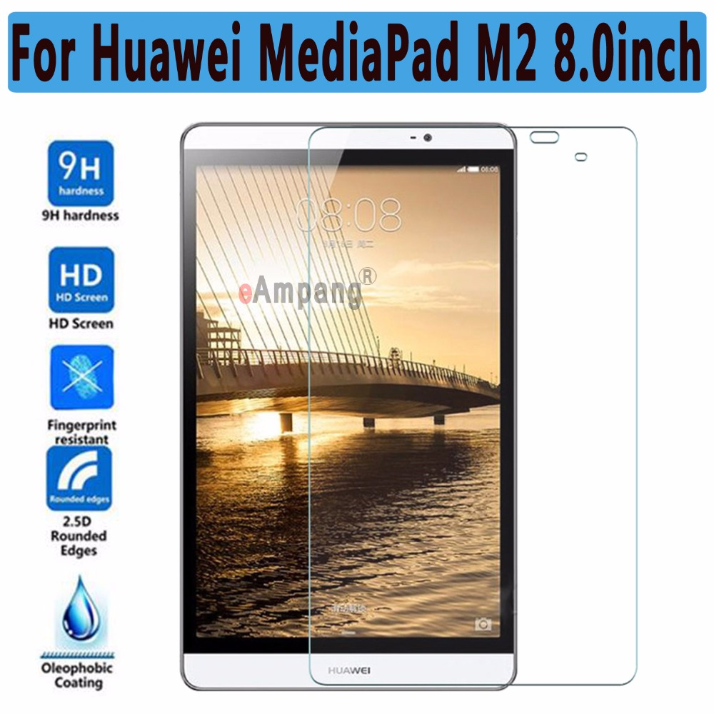 Ultra Thin HD Clear Explosion-proof Tempered Glass for Huawei MediaPad M2 8.0 Screen Protector Guard Film for Huawei MediaPad M2