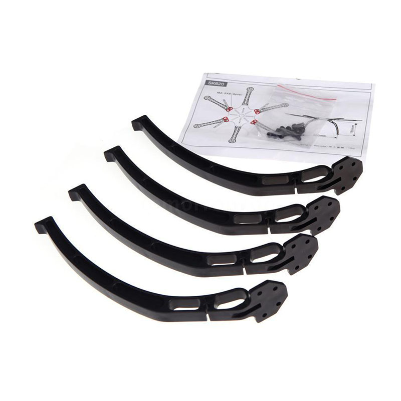 4pcs 140mm DJI F450 F550 Quadcopter Low Landing Skids Gear Legs Wheels Tripod for SK480 FPV Helicopter Drone