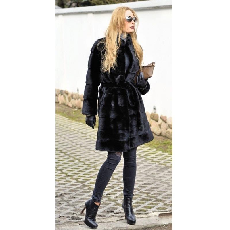 Et Chaud Slim Vison Automne Véritable Femmes Black Long 2018 Vêtements Survêtement Pour De Hiver Manteaux Manteau Nature Vestes Arrivée Fourrure 100 Nouvelle qxTwvHt