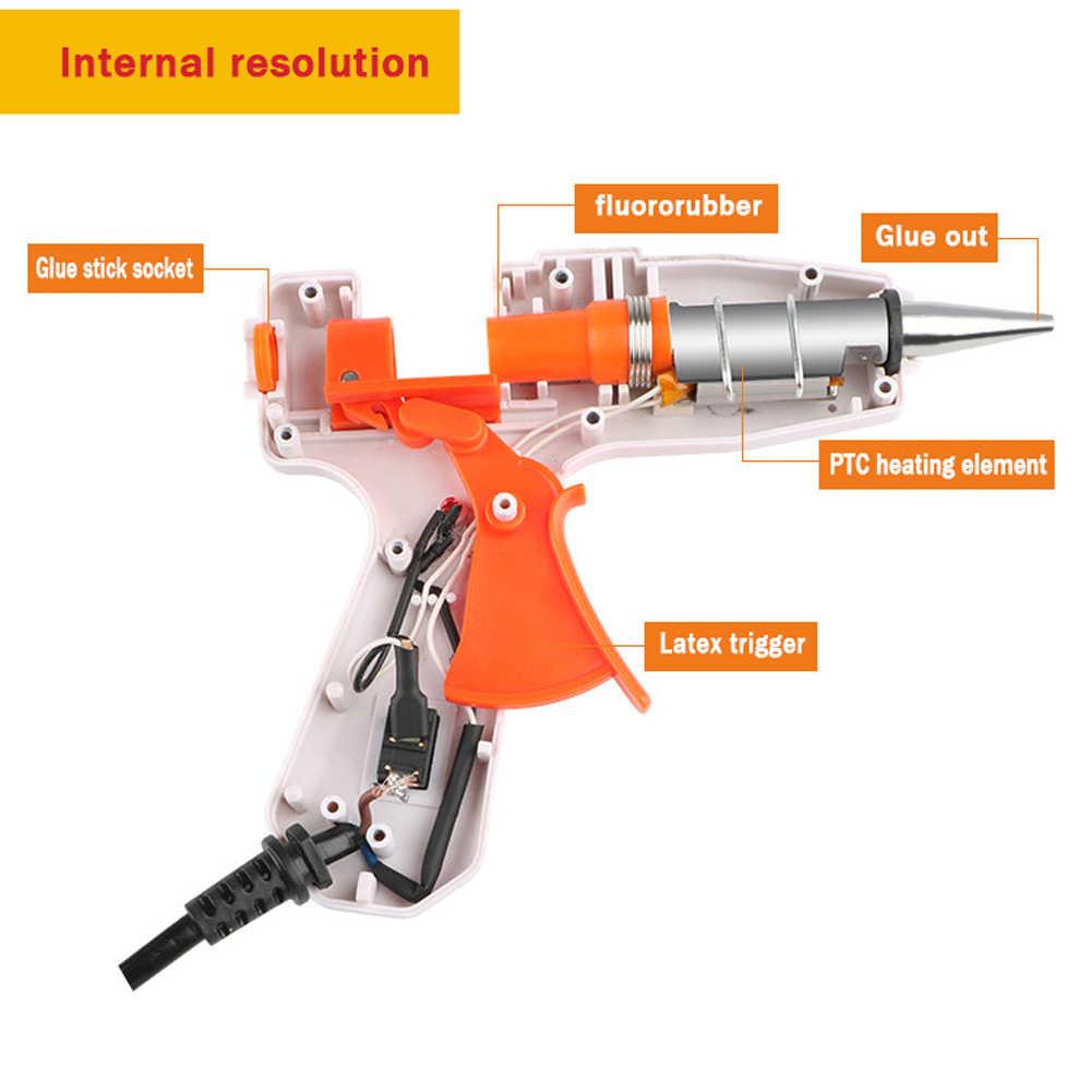 Hot Melt กาวปืน 20W 7 มม.EU ปลั๊กไฟฟ้าเครื่องมือพร้อมสวิทช์อุตสาหกรรมมินิปืน thermo