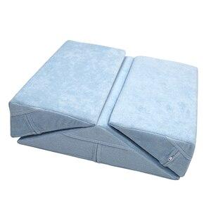 Image 4 - 3X Anti Doorligwonden Bedlegerige Patiënten Ouderen Bed Wig Kussen Elevatie Ondersteuning Kussen Set Voor Been Terug Knie Taille Rolstoel