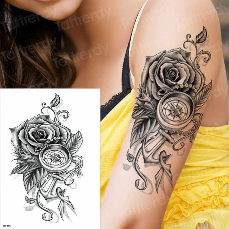 Detail Feedback Questions About Temporary Tattoos Rose Girl Tattoo