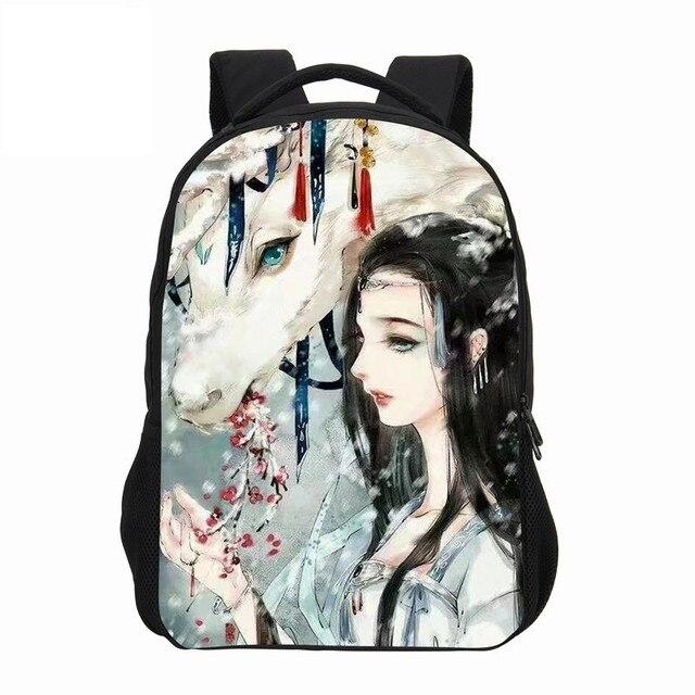 d13ec0c522 VEEVANV Chinês Anime Prints Sacos de Ombro Mochilas Escolares Mulheres  Mochila Moda Meninas Menino Dos Desenhos