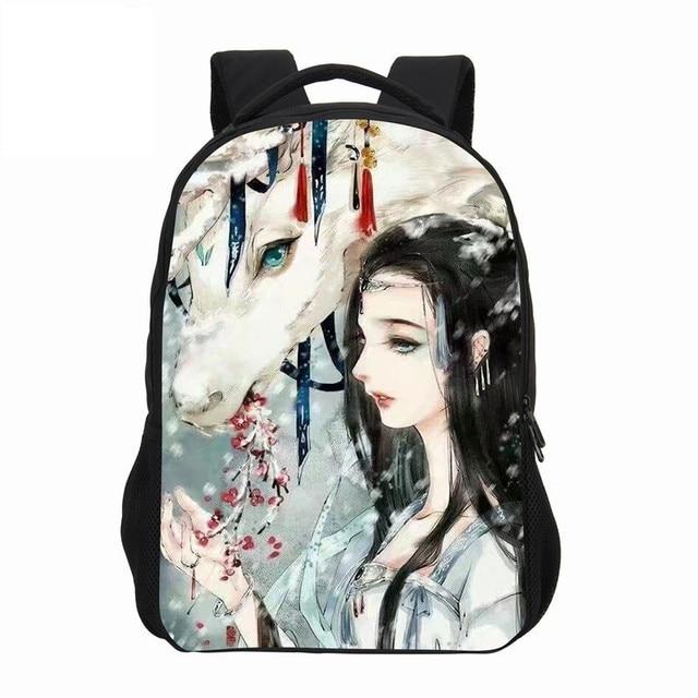6fcb47dbec88 VEEVANV Chinese Anime Prints Shoulder Bags School Backpacks 3D Cartoon  Women Backpack Girls Fashion Boy Bookbag Children Mochila
