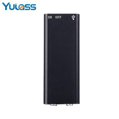 Yulass 8 Gb Kleinste Audio Recorder Schwarz Tragbare Mini Usb Digital Voice Recorder Professionelle Mit Wav/mp3-player HüBsch Und Bunt Digital Voice Recorder