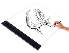A4 Ultra Thin PortableCopy Table LED Light  Writing Platform Transparent Cartoon Animation Tracing Drawing Board Light Box стоимость