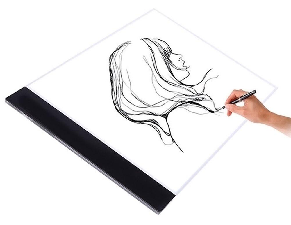 A4 Ultra Thin PortableCopy Table LED Light Writing Platform Transparent Cartoon Animation Tracing Drawing Board Light Box