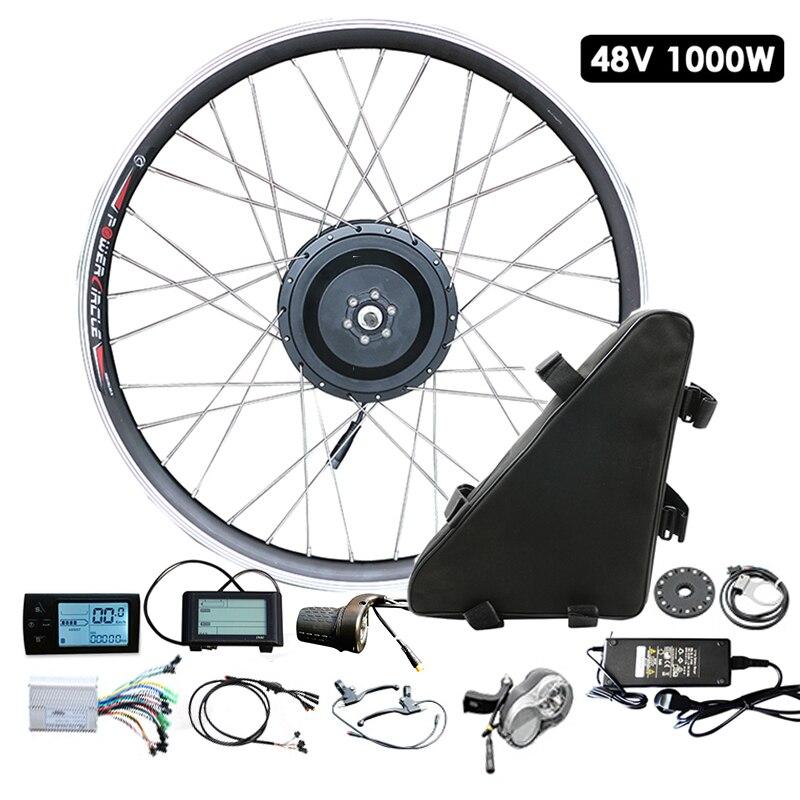 JS vélo électrique Kit 1000 w Avec Batterie 48 V pile électrique Ebike Moteur Roue vélo électrique Conversion Kit Bicicleta Electrica