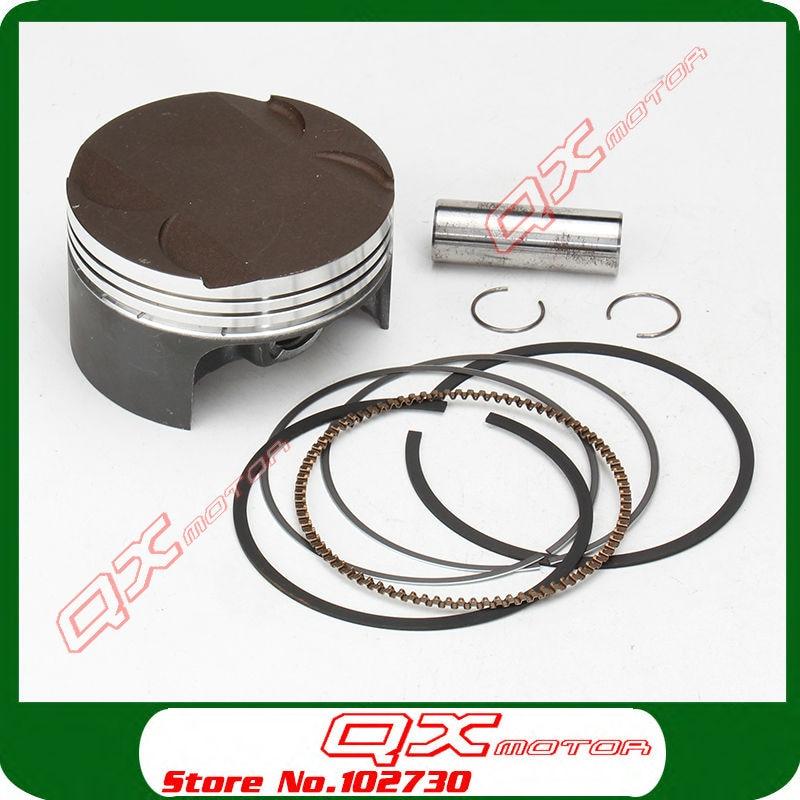 ФОТО Zongshen NC250 Piston kit ZS177MM Engine NC250 Piston kit  KAYO T6 BSE J5 xmotos 250cc 4 valves Engine parts Free shipping