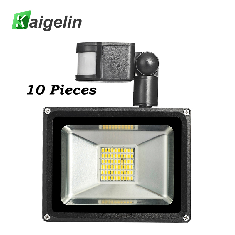 10 Pcs 30W 220-240V PIR Infrared Motion Sensor LED Flood Light 3300LM PIR Motion Sensor Floodlight LED Lamp For Outdoor Lighting pir motion sensor lamp holder 180 240v