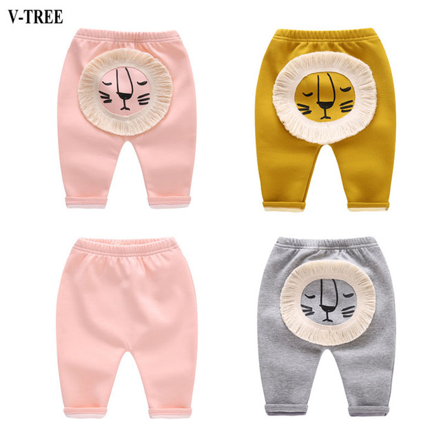 Lion Kids Pants Cotton Cartoon Harem Pants For Baby Boy Pants For New Year Baby Clothing For Christmas Winter Newborn Pants