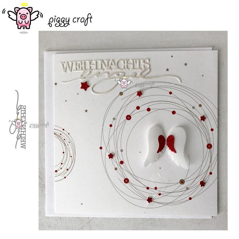 Piggy Craft Metal Cutting Dies Cut Die Mold Star Moon Angel Child Scrapbook Pape