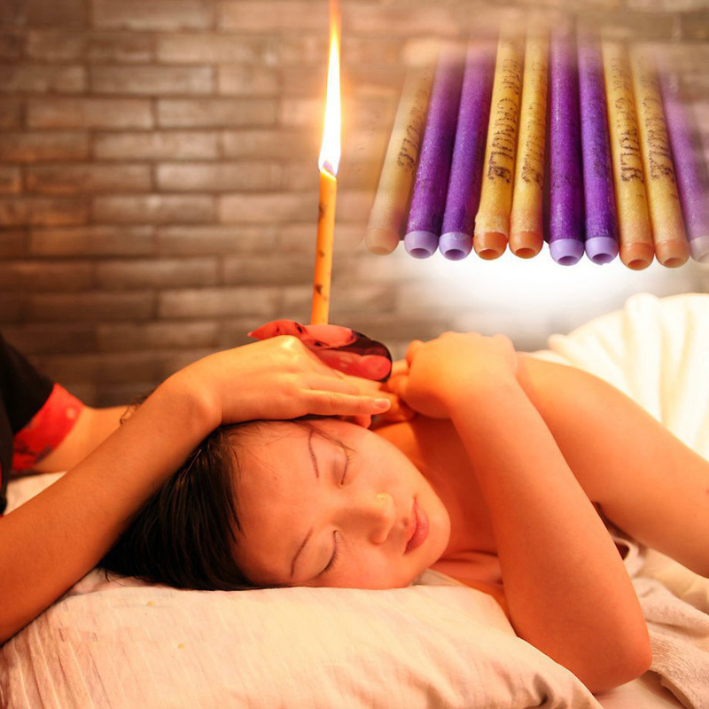 10pcs/lot Treatment Therapy Fragrance Candling Healthy Care Relax Ear Candles Ear Treatment Wax Removal Cleaner Hollow Cone