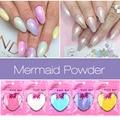 New Nail Art Giltter Mermaid Effect Chrome Pigment Powder 10g / bag Laser Silver White Miorror Powder Nails Decorations 2017 Hot