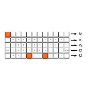 Image 5 - YMDK Planck Niu40 Preonic Keyset White Gray Black Gradient Pure White Laser Etched OEM Keycap 1.5mm Thickness PBT
