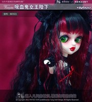 Free shipping TANGKOU Collection Vampire dress up dolls with red black hair Big Head and big eyes makeup Toys for girls gifts