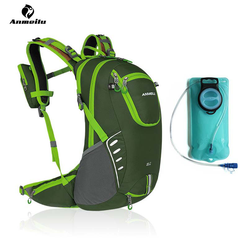 ANMEILU Motorcycle Outdoor Sports 20L Backpacks + Hydration 2L Water Bladder Cycling Climbing Hiking Bag Travel Bags Rucksack anmeilu waterproof unisex travel bag 20l outdoor bicycle bike bags mountain camping climbing rucksack outdoor hiking hunting bag