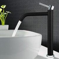 Basin faucet Hot and Cold Copper bathroom faucet sink faucet tall chrome/black/white brass crane faucet