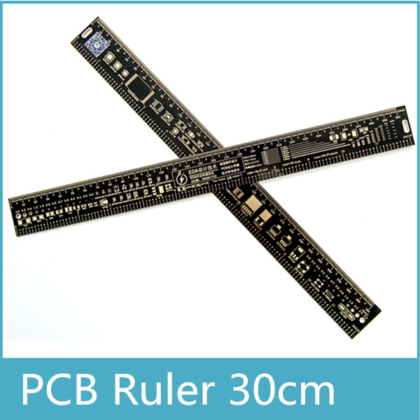 30cm Multifunctional PCB Ruler EDA Measuring Tool Black