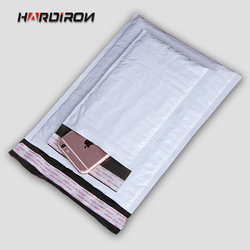 HARD IRON Thick Padded Shockproof Post Shipping Mailing Pack Envelopes  Grey White Color PE Poly Courier Envelope Mailer Bubble
