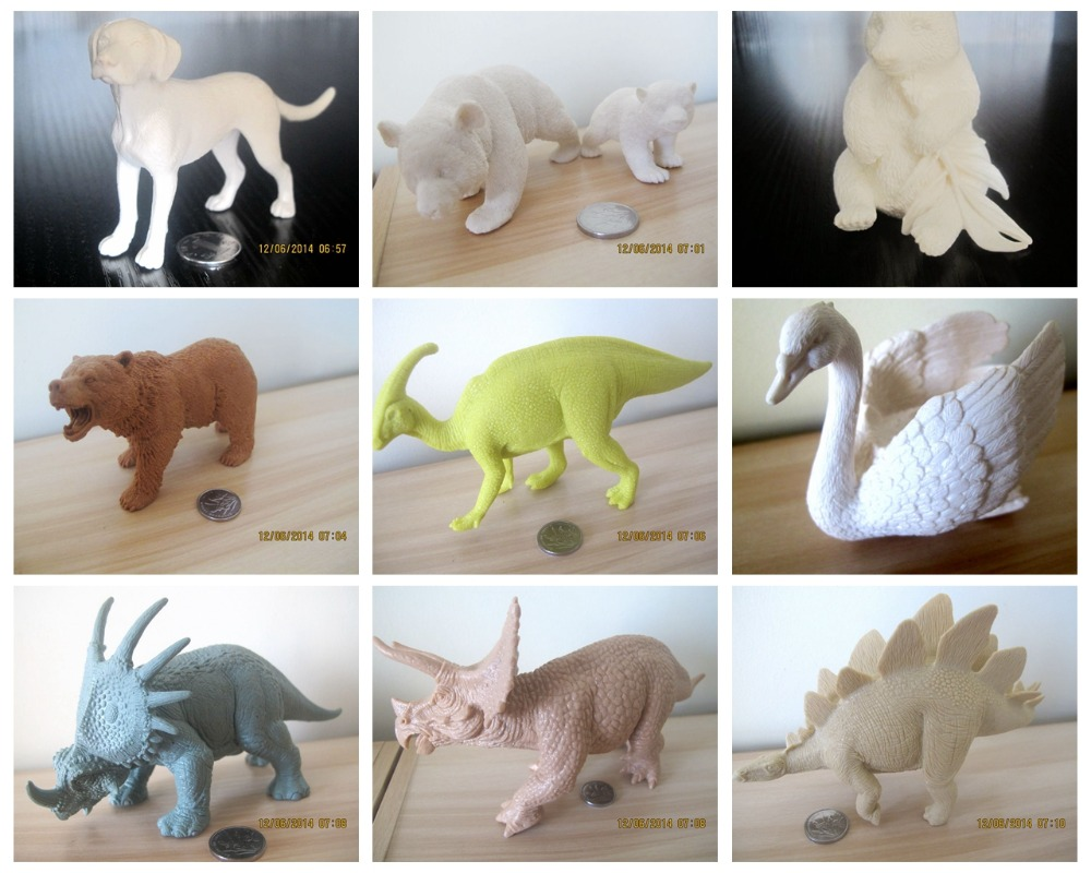 pvc  figure Simulation animal model   white model   1500G pvc figure assembly simulation animal model dinosaur tiger elephant horse sheep kitten puppy model 25pcs set