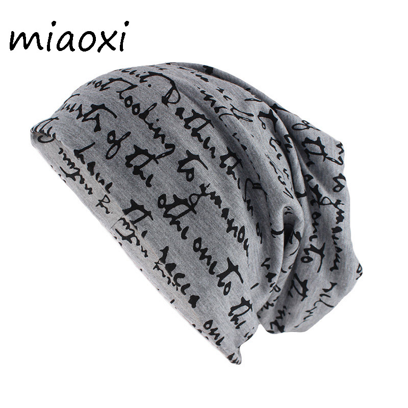 Miaoxi New Adult Warm Fashion Hat Women Men Casual Beanies Skullies Letter Cotton Gorros High Quality Female Caps
