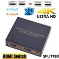 Мини-Коммутатор HDMI 4K HD1080P HDMI переключатель сплиттер с выключением питания menory двойной дисплей для HDTV DVD TV BOX Xbox360 PC