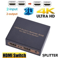 Mini HDMI Switcher 4K HD1080P HDMI Switch Selector Splitter With Power off menory Dual Display For HDTV DVD TV BOX Xbox360 PC