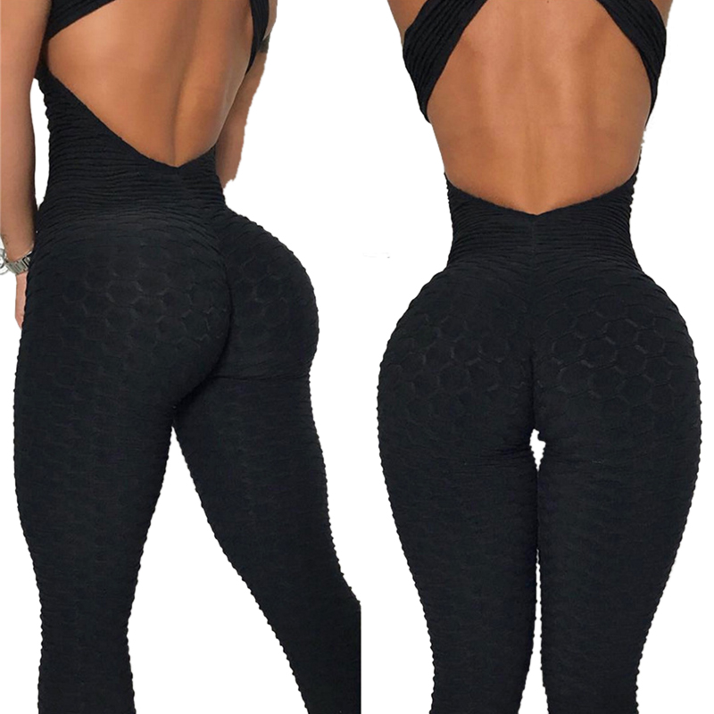 Women One Piece Yuga Set Backless Fitness Clothing Crossover Slim Sportswear Put Up Leggings Sporting Suit High Waist Tracksuit