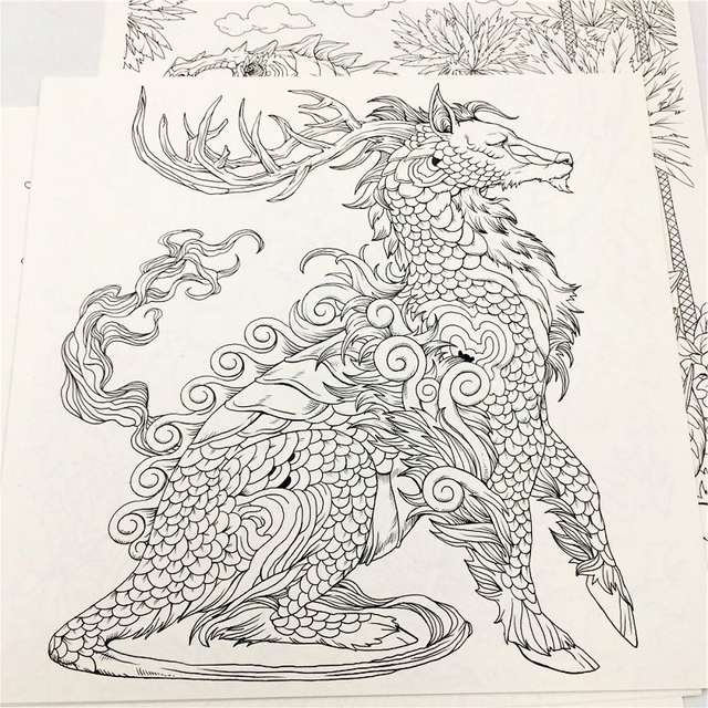 Us 27 83 New Hot Classic Fantasia Coloring Book For Adult Kid Antistress Painting Drawing Graffiti Hand Painted Art Books Colouring Book In Books