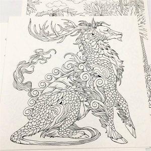 Image 5 - 새로운 뜨거운! 클래식 환타지아 색칠하기 책 성인 키즈 antistress 그림 그리기 낙서 손으로 그린 미술 도서 색칠 공부