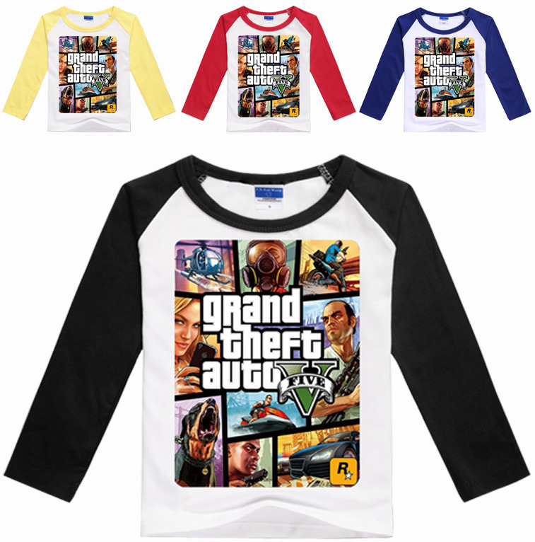 Z Y 3 16years Gta 5 T Shirt Boys Games Clothing Boys Long