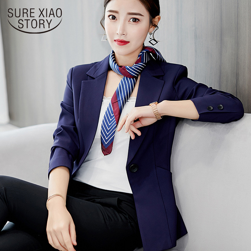 2018 Herbst Frauen Mode Frauen Jacken Langarm Büro Damen Arbeitskleidung Business Anzüge Weibliche Blazer Formal Mantel 1342 45