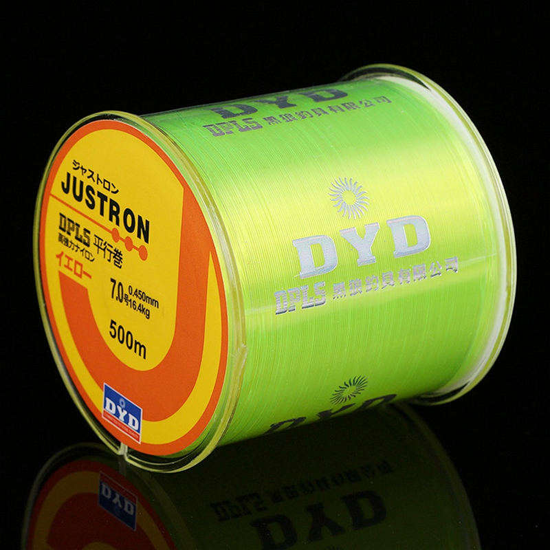 500m Super Strong Nylon Fishing Line 2LB - 40LB 7 Färger Japan Monofilament Huvudlinje för Carp & Match Fiske