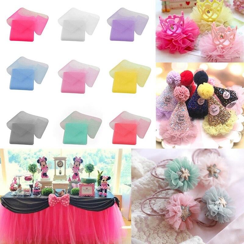 6cm*5m Tulle Roll Crystal Organza Tulle Rolls Wedding Party Decor DIY Tutu Skirt Fabric Handmade Gift Craft Headwear Accessories