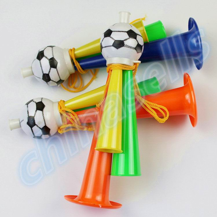 50pcs Colorful Three Tubes cheering High pitched Voice Horns soccer football horn Party Carnival Sports Games
