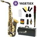 New Nickel Plated Black Saxophone Alto Sax YAS 875 EX Musical Instruments Professional E-flat Sax Alto Saxofone Saxophone