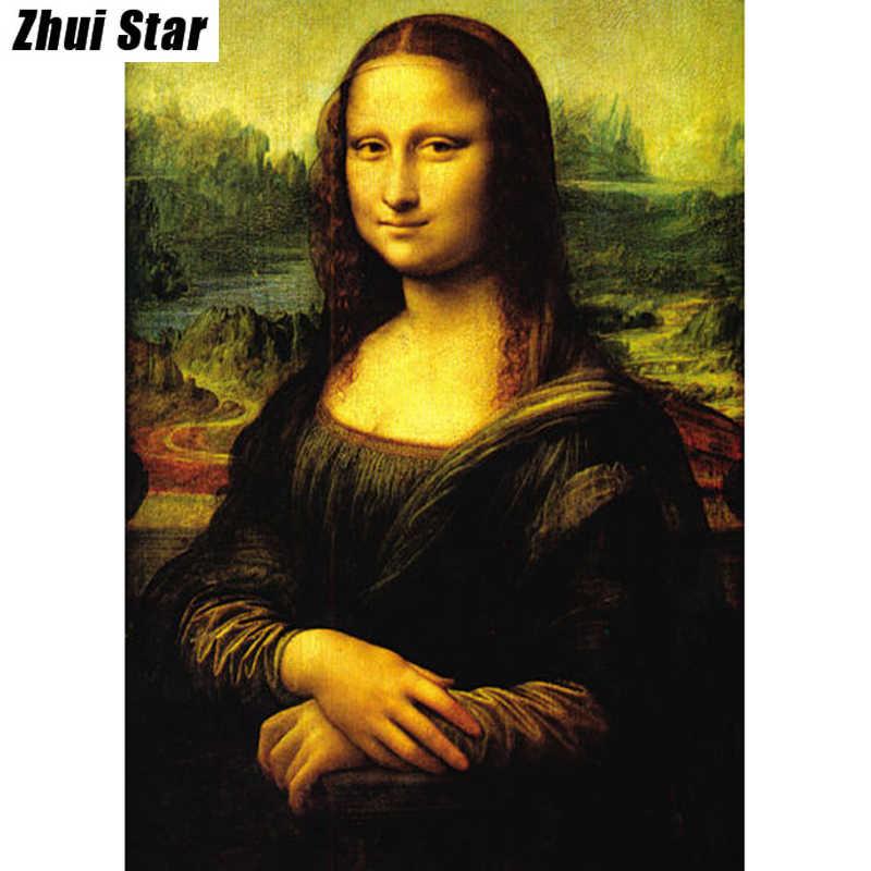 """Новинка 5D DIY Алмазная картина """"Мона Лиза"""" вышивка полный квадратный алмаз вышивка крестиком горный хрусталь мозаика картина домашний Декор подарок"""