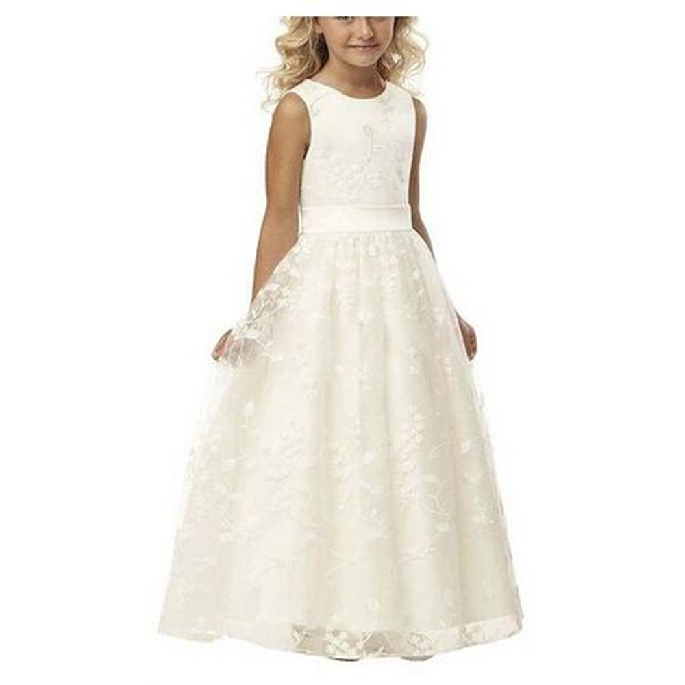 Online get cheap simple wedding dresses for girls aliexpress holy communion dresses scoop neckline sleeveless tank lace applique simple a line pageant wedding dresses for little girls 0 14y ombrellifo Image collections