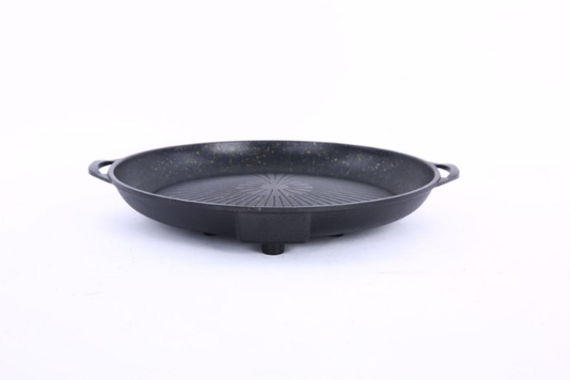 Baking Tray Maifan Stone Coated Barbecue Dish Barbecue Pot Korean Household Smokeless Non stick Tray Barbecue Tray in Pans from Home Garden