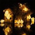 Multicolor 6.35 m Energía Solar 30 LED String Luz de Navidad Festival de Ambiente Led Decoración Del Partido de Hadas de Luz Al Aire Libre A Prueba de agua