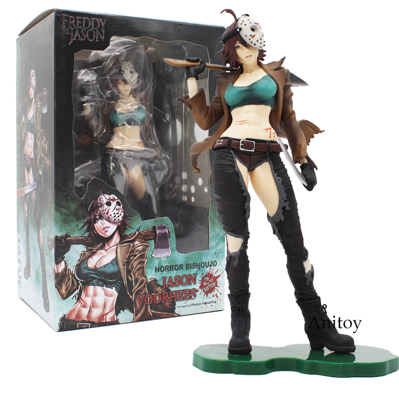 цена на Freddy Vs. Jason 2nd Edition Horror Bishoujo Jason Voorhees PVC Action Figure Toys 22.5cm