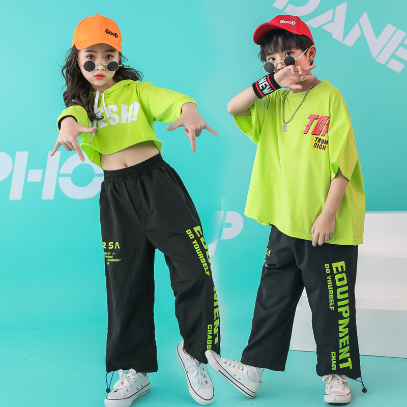 Kid Hip Hop Hoodie Clothing Outfits Casual Pants Shorts Oversized T Shirt Tops For Girls Boys Dance Costume Ballroom Outfits