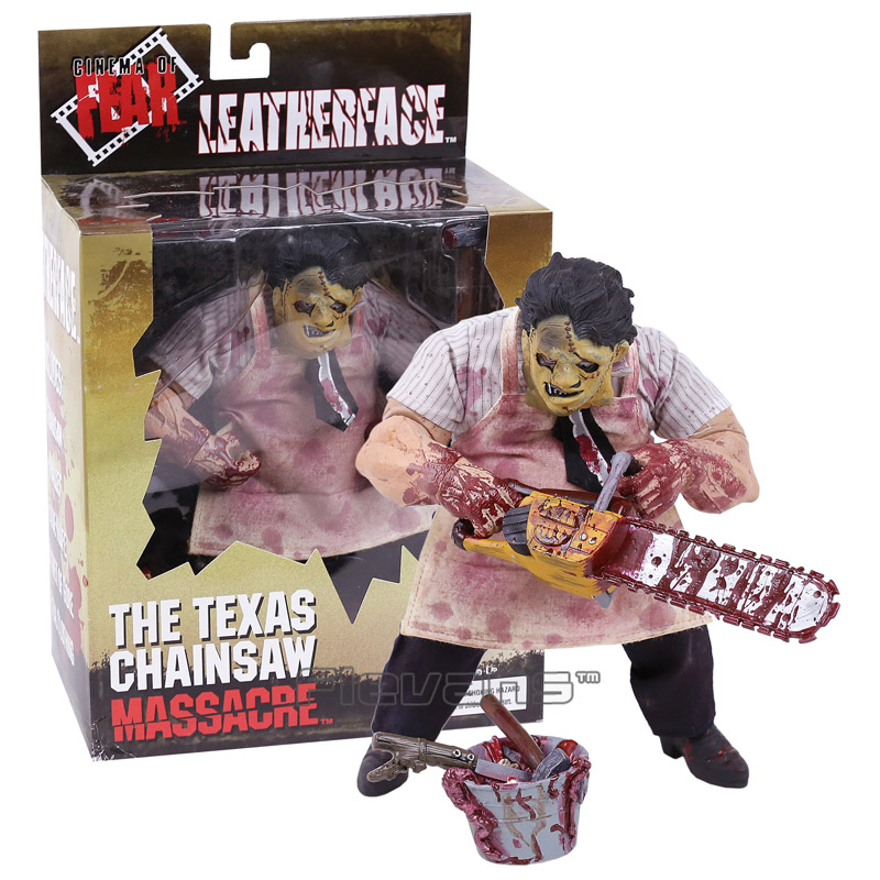 Mezco Saw The Texas Chainsaw MASSACRE Leatherface PVC Action Figure Collectible Model Toy 23cm tec 02 battery capacity testing instrument nicd and nimh lithium iron battery mobile power measuring instrument