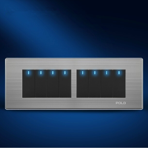 POLO luxury wall switch to light panel197MM72MM touch dimmer