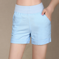 2017 Fashion Candy Color Summer Shorts Women Casual Cotton Breathable Stretch Short Feminino Plus Size Ladies